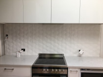 Another kitchen splash back - Another kitchen splash back with large size of tiles looking good.