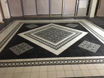 Restaurant-Floor - Designed tiles installed by HEK-Tiling Team