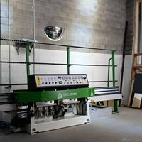 Henderson Glass -  Flat Polishing Machine - This is our flat polishing machine from Italy.  It polishes the edges of glass and mirrors.  We can provide customers with same day service.