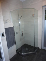 Frameless glass shower - Frameless glass showers, fully tiled or acrylic lined are one of our specialities and