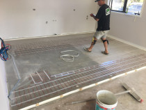 Under-tile Heating - Hoult Electrical communicates and works closely with other trades to ensure everything runs smoothly and nothing is overlooked.
