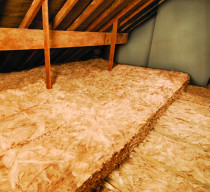 Earthwool Glasswool - Double layer of Earthwool Glass wool installed to reduce heat loss from thermal bridging (loss through gaps and joins) and provide a superior insulation value