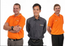 The Insultech Team - Part of the Insultech Auckland Team. From left to right Stephen Nicolson, Peter Elfa, Aaron Newell