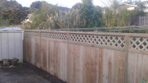 New Fencing with 300mm trellis capping framed and fitted on site