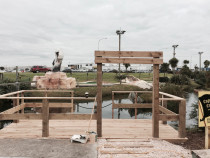 Eel feeding wharf at Pirates mini golf - CORNER ROOM DESIGN LIMITED