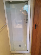 Installation of new shower, tray and door