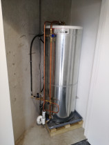 New electric hot water cylinder install