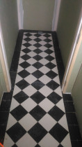 JSR Tiling Ltd - Chequered pattern tiles at Montreal Street