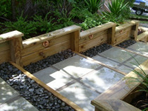Kohimarama - Timber retaining, steps, paving & planting