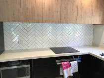 Classic Herringbone Design by Just Splashbacks - Female Tiler