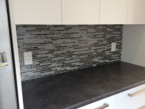 Mosaic stone and glass by Just Splashbacks - Female Tiler