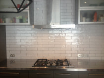 Rustic hand made subway by Just Splashbacks - Female Tiler