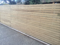 decking timber type fence pre-paint by K Benson Contracting Ltd t/as KB Contracting