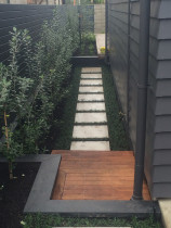 Access path down side of house by K Benson Contracting Ltd t/as KB Contracting