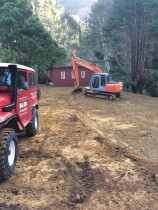 Moonshine Forestry Block private land by K&D Contracting Ltd - Preparations for parking at the hut.