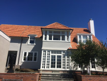 Large exterior - We painted this very nice Wellington Home in 2016 . The client was my very first client 16 years before.