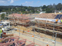 Kingdom Construction Ltd - Chippendale subdivision - View from above. Ten new homes running smoothly