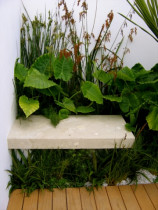 Detail of seating by Kirsten Sach Landscape Design