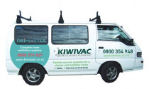Kiwivac Central Vacuum fleet - Signwritten Kiwivac AVT and Drimaster van