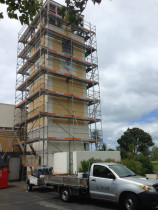 Scaffolded maintenance on Gulf Harbour Country Club