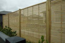 Oriental Trellis Screen Fence completed by M & M Fencing NZ Ltd