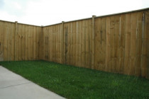 Straight Top Panel Fence with Cap completed by M & M Fencing NZ Ltd