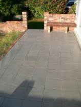 Landscaping by Buildstrong - Recycled brickwork, Tiling and seat