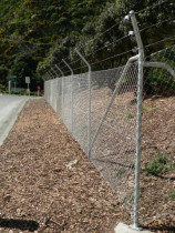 Chain Link fencing by Buildstrong - Over 200m of chain link fencing was installed on Allied Concretes new site, over differing substates and gradiants