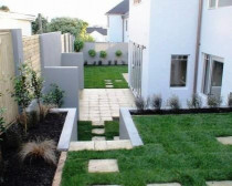 Orakei backyards - fully landscaped new house in orakei auckland