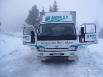 Snow no problem with Mo Moves 4 U - We go anywhere anytime.