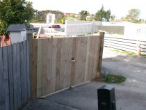 Mohi Te Whatu Fencing Limited - Rough Sawn Driveway gate 1.8m high x 2.5m wide - double swing