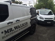 2 vans in Northcote from Mr Walker Electrical & Plumbing