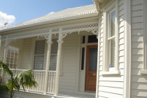 Villa exterior painting by No Limit Painting Ltd - 100yr old villa restoration