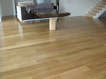 White Oak  waterborne low sheen - Waterborne polyurethane on new floor