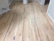 Blonded Wooden Floor - Blonded solid Pine floor with moisture cured Matt finish