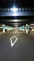 Project: Glenfield Mall Carpark by Paint it Perfect Ltd - This is after.  Changed from orange to aqua.
