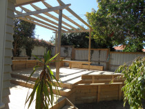 deck & incoporated raised beds - PANNA Woodworks Ltd