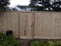Ship-lap fence with gate - PANNA Woodworks Ltd
