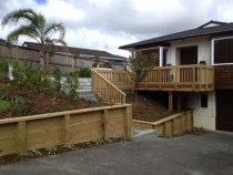 Cliff Rd Torbay b Paul Troake Construction Limited - Job completed, new decks, stairs, retaining, landscaping