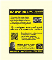 PC Wiz 2U Ltd : Home Calls for Computers - Yellow Pages Advert - Our computer technicians will come to your home or office : Mobile IT service