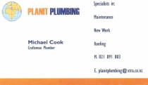 Planit Plumbing Business card