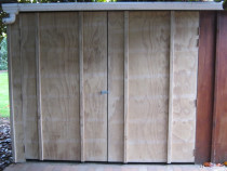new woodshed doors