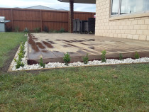 Timber Garden Edging and Planting around the Deck Area by Pure Style Home & Garden