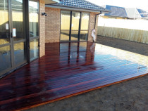 Angled Kwila Deck by Pure Style Home & Garden