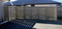 Horizontal Pine Feature Fence by Pure Style Home & Garden