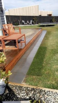 Paving around Deck by Pure Style Home & Garden