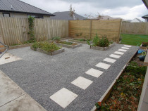 Tidy up to Vege Garden Area - new stones, pavers and edging. by Pure Style Home & Garden
