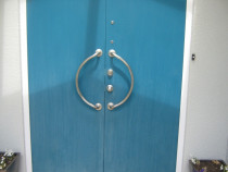 before - Quality Painting - Old and sun damage door, trip the paint