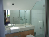 bathroom mirror and glass shower - R & B Glass & Glazing - bathroom mirror and glass shower