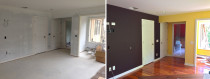 Interior before and after - Rad Painting Services